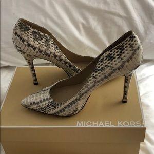 Michael kors snakeskin heels. Size 7.5